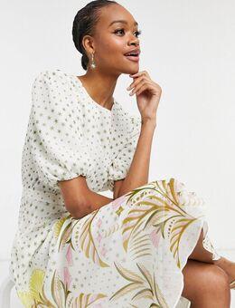– Joulia – Kleid in Creme-Weiß