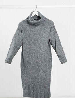 – Kleid mit Rollkragen in Dunkelgrau