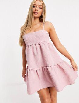 – London – Babydoll-Kleid in Pink-Rosa