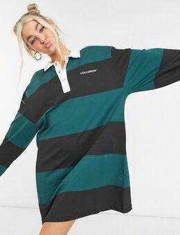 – Langärmliges Rugby-Kleid mit Streifen-Mehrfarbig