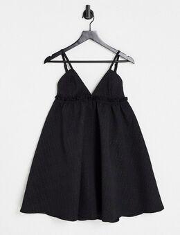 – London – Babydoll-Kleid in Schwarz