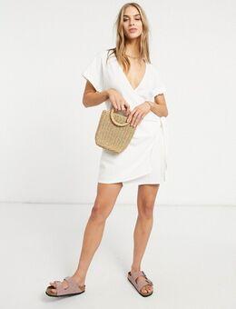 – Sofia – Wickelkleid in Weiß
