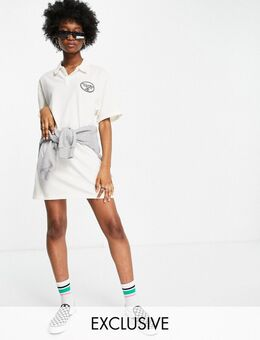 – Inspired – Polo-T-Shirt-Kleid-Weiß