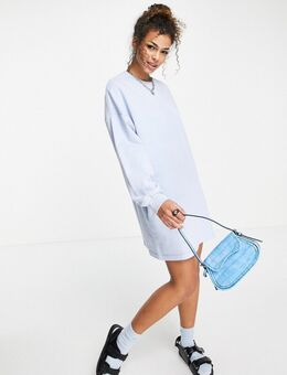 – Sweatshirt-Kleid in Hellblau