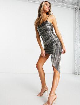 – Sculpt – Figurbetontes Kleid in verschiedenen Metallic-Tönen-Mehrfarbig