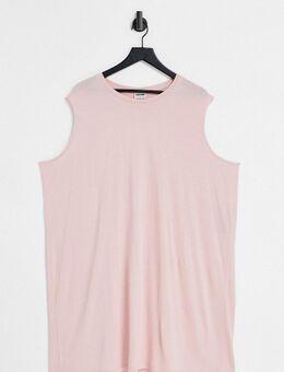 – Ärmelloses T-Shirt-Kleid in Rosa