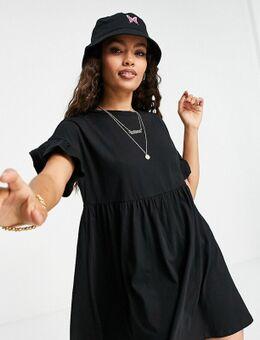 – Babydoll-Kleid aus Jersey in Schwarz