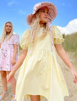 X Olivia & Alice – Mini-Hängerkleid mit Puffärmeln-Gelb
