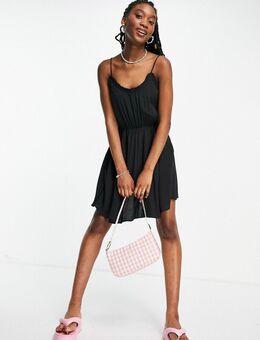 – Camisole-Kleid in Schwarz