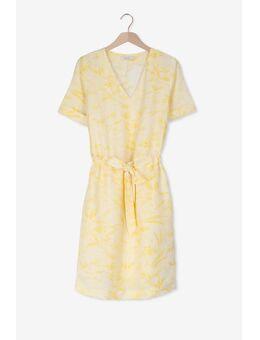 Gele jurk met V-hals