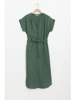 Groene mouseline jurk