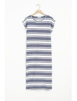 Blauw wit gestreept t-shirt jurk