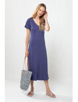Donkerblauwe basic maxi jurk