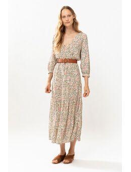 Multicolor wrap maxi dress met paisley print