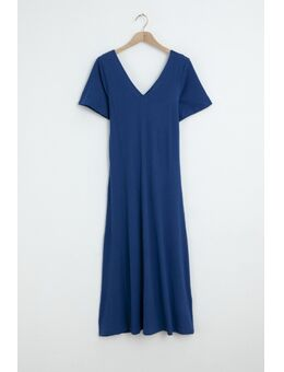 Lindusa midi jurk 8085 blauw