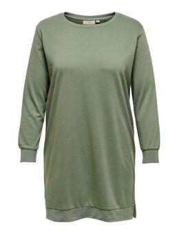 Curvy Sweat Jurk Dames Green
