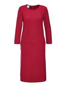 Jersey jurk Dames kersenrood / zwart maat 36