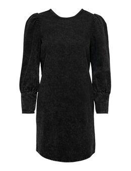 Puff Sleeve Dress Dames Zwart