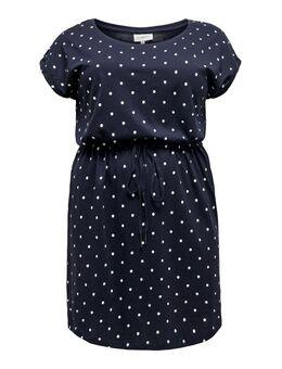 Curvy Drawstring Dress Dames Blauw