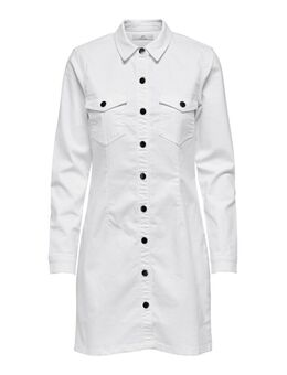 Button-up Denim Jurk Dames White
