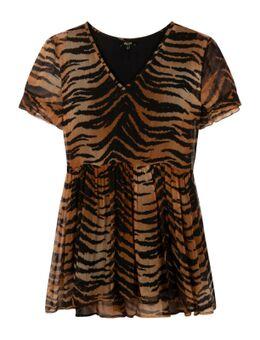 Tiger Crinkle Chiffon Dress