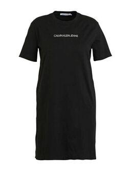 Plus T-shirtjurk met logo zwart