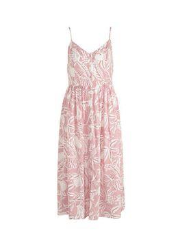 Yessica jurk met all over print en plooien roze
