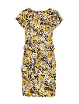 Regulier jurk met all over print geel