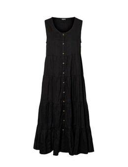 Maxi A-lijn jurk zwart