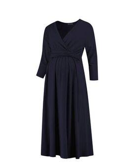 Zwangerschapsjurk Dress Nursing Gots donkerblauw