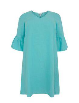 Linnen jurk turquoise