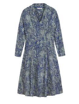 A-lijn jurk met all over print blauw/multi