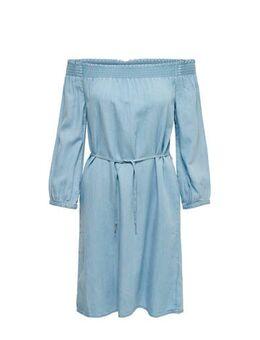 Off shoulder jurk blauw
