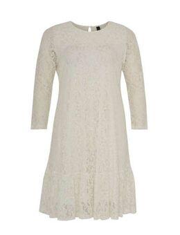 Kanten A-lijn jurk wit