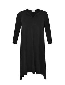 Jersey jurk met biologisch katoen zwart
