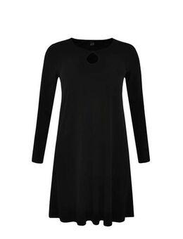 Jersey jurk met open detail zwart