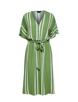 Gestreepte blousejurk groen