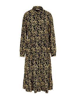 Gebloemde blousejurk zwart/geel