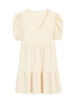 A-lijn jurk met volant ecru