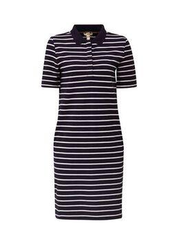 Women Casual gestreepte jurk donkerblauw/wit