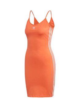 Originals jurk oranje/wit