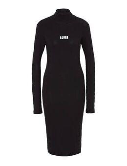 Jersey jurk zwart