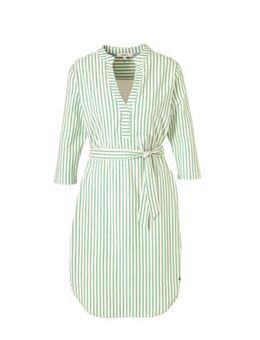 Gestreepte jurk mintgroen/wit