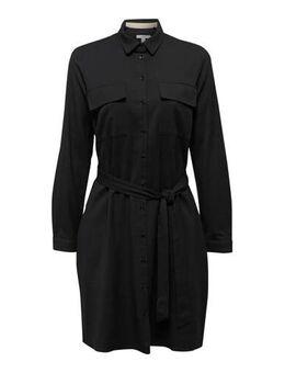 Women Casual jersey jurk zwart