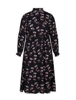 Gebloemde jurk Jasmine zwart/multi