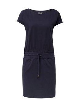 Women Casual jersey jurk donkerblauw