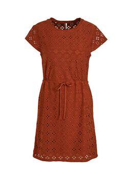 Jersey jurk roodbruin