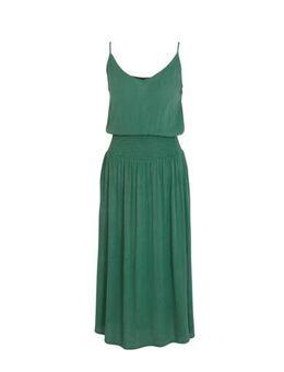 Crinkle viscose jurk groen