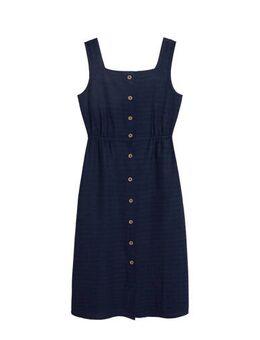 Gestreepte jurk marineblauw