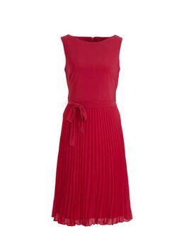 A-lijn jurk met ceintuur fuchsia